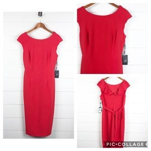 ~Adrianna Papell~  Red Alyce Dress NWT